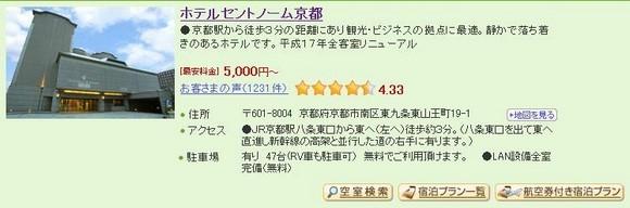 4_Hotel Centnovum Kyoto_1