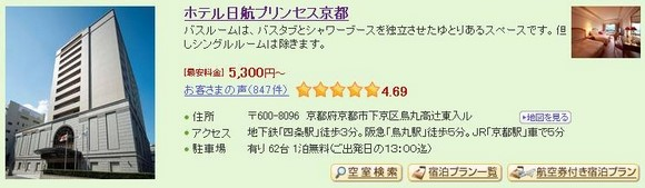 4_Hotel Nikko Princess Kyoto_1