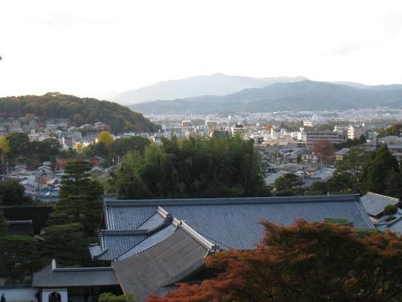 銀閣寺山上遠望
