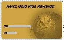 HertzGoldPlusRewardsMemberCard