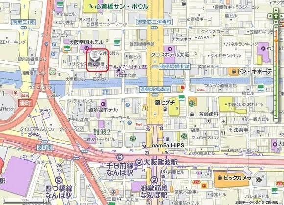 難波心齋橋APA Hotel地圖