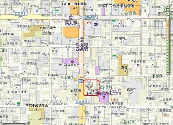 京都四條烏丸Daiwa Royal Hotel地圖