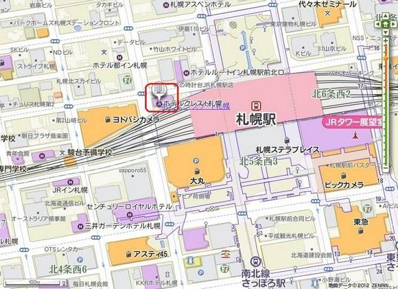 札幌Hotel North Gate Sapporo地圖