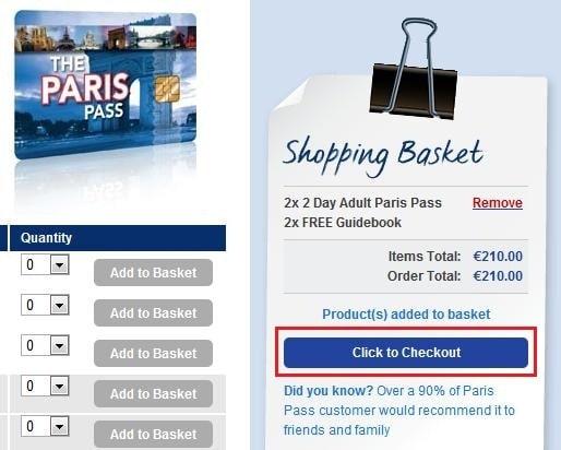 購買Paris Pass_Step 3