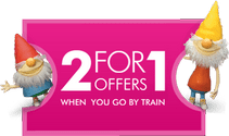 2for1 Offers when you go by train