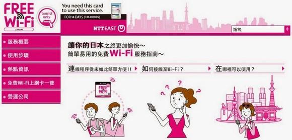 NTT東日本免費WiFi上網卡
