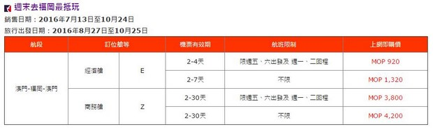 Air Macau_Fukuoka Promo_Price