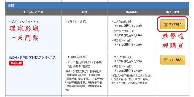 Puchase Ticket in USJ Website_04