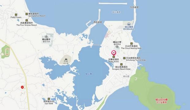 Hotel Aroha Jeju_Map