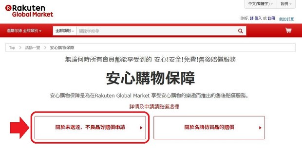 Rakuten Global Market Customer Protection Application Flow_Type1_01